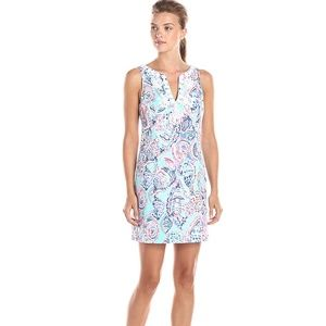 NEW Lilly Pulitzer Gabby Shell Me About It Dress 0
